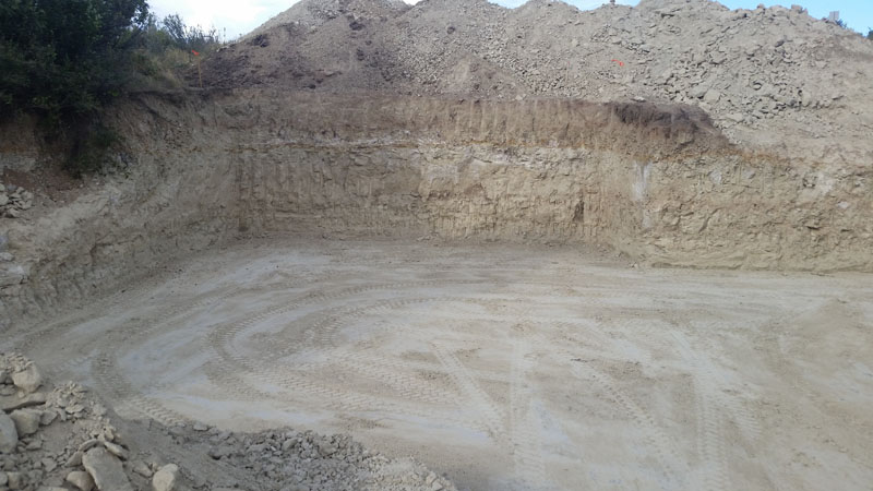 Excavation for foundation walls