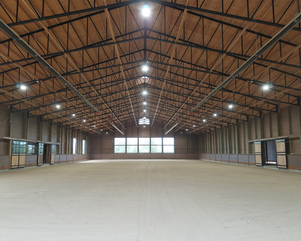 Indoor Horse Arena with Sand Footing