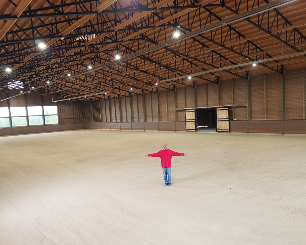 Indoor Horse Arena with Felt Footing