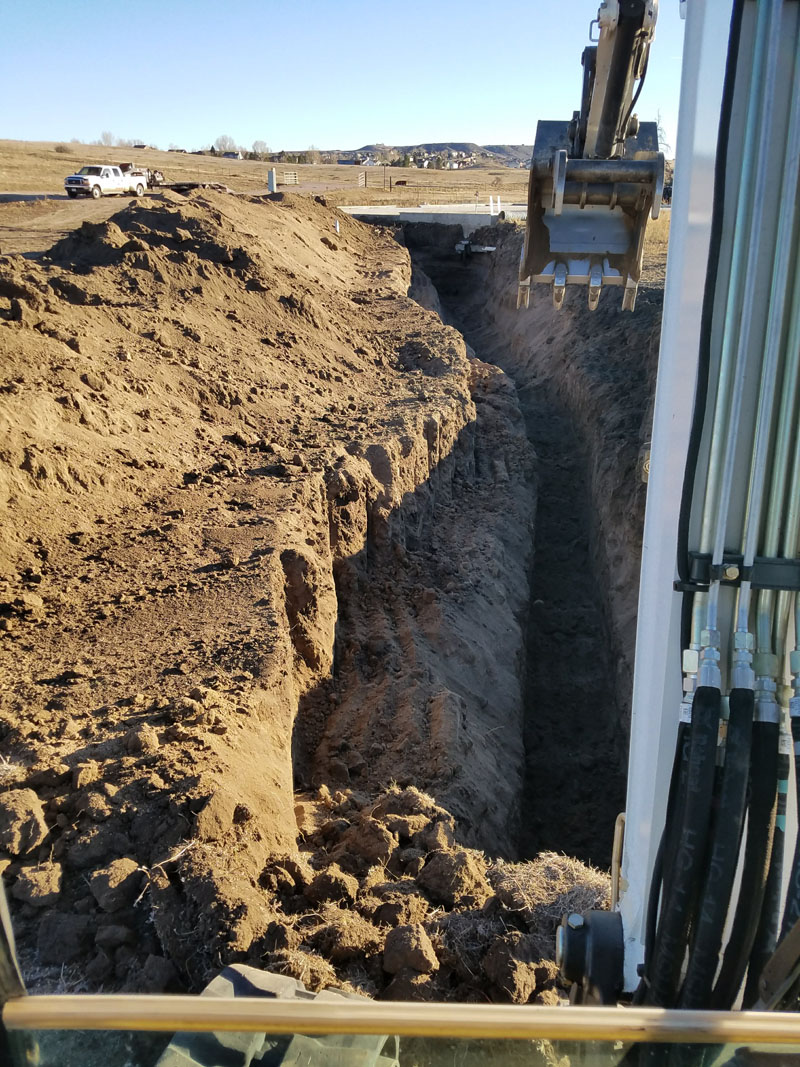 Trenching for water line