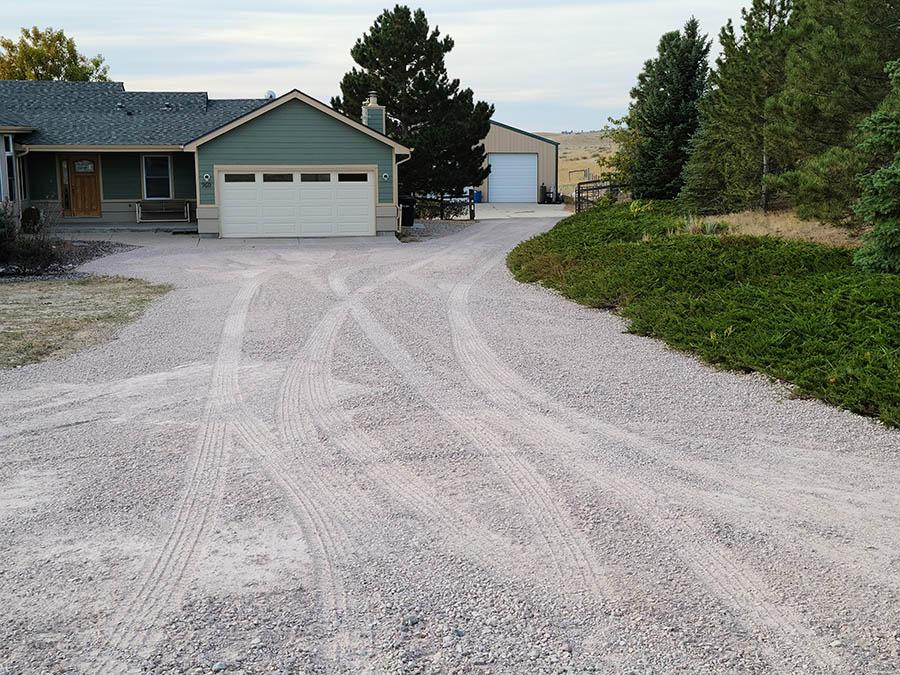 Driveway in Parker, CO - Rhyolite road base